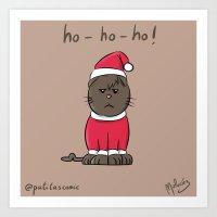 Merry Christpaws Art Print