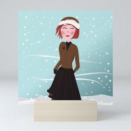 Dreamgirl Katie in Winter Mini Art Print
