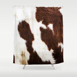 Cowhide Brown Spots Shower Curtain