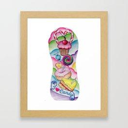 Candy Tattoo Sleeve Framed Art Print