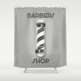 Barbers Shop Pole Shower Curtain