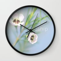friendship Wall Clocks featuring Friendship by SUNLIGHT STUDIOS  Monika Strigel