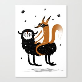 Space Fox Wanderer Canvas Print