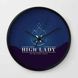 High Lady of the Night Court Wall Clock