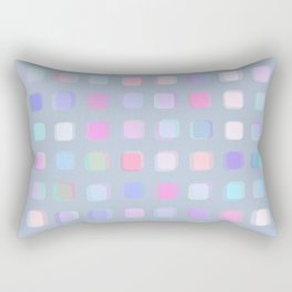 Colorful overlapping squares and teals Rectangular Pillow
