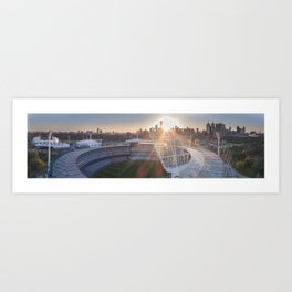 Aerial view of The Melbourne Cricket Ground at Sunset Art Print