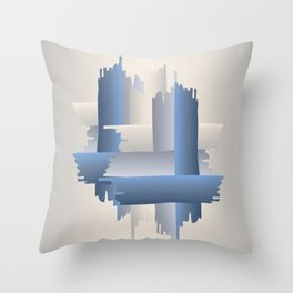 stone brick city Throw Pillow