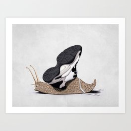 The Sneaker (Wordless) Art Print
