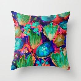 Reverse Florals Throw Pillow