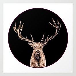 Golden Buck Art Print