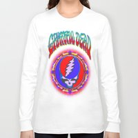 grateful dead Long Sleeve T-shirts featuring Grateful Dead #10 Optical Illusion Psychedelic Design by CAP Artwork & Design