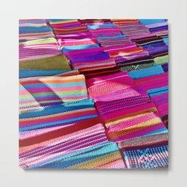 Pink textiles Metal Print