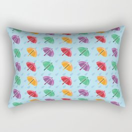 Colorful Rain Umbrella - Pattern Rectangular Pillow