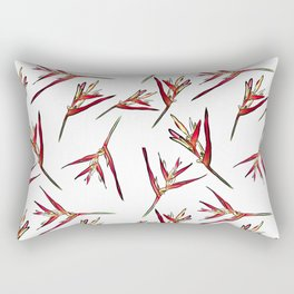 Baby Heliconia Floral Pattern Rectangular Pillow