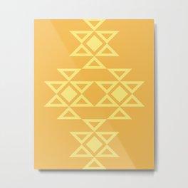 Kanatitsa - Symbol of Eternity, Peace, Protection, Prosperity | Eastern European Ornaments, Golden Colors Metal Print