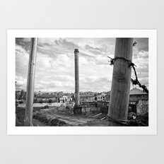 Three poles Art Print