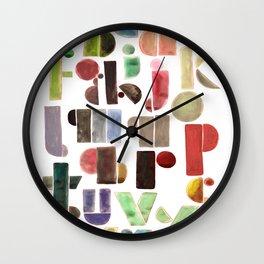 The Alphabet - by Genu WORDISIAC™ TYPOGY™ Wall Clock