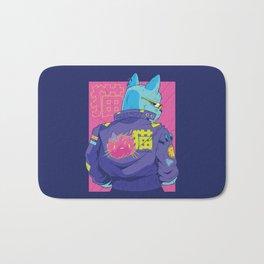 Cyberpunk Cat Bath Mat