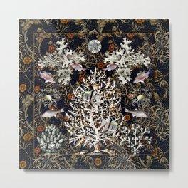 Art Nouveau Coral Reef Metal Print