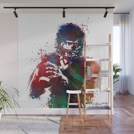 American football player 3 Wall Mural