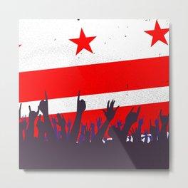 Washington DC Flag with Audience Metal Print