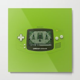 Gameboy Zelda Link Metal Print