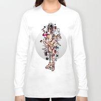 geek Long Sleeve T-shirts featuring GEEK by Joni Waffle
