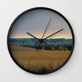 Grazing the Hillside Wall Clock