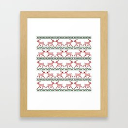 Christmas Deer (pattern) Framed Art Print