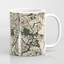 Madrid City Map of Spain - Vintage Coffee Mug