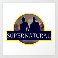 supernatural Art Prints featuring Supernatural  by amirshazrin