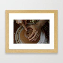 Trimming a pot Framed Art Print