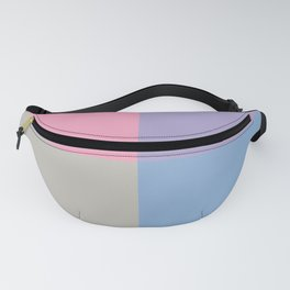 Pink Gray Blue Purple Geometric Minimal Design Fanny Pack