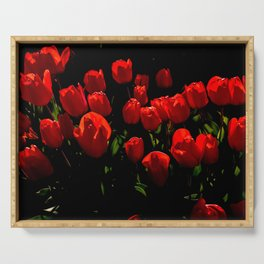 Red Tulips, British Columbia Serving Tray