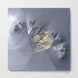 Branches - combined natural and artificial Metal Print