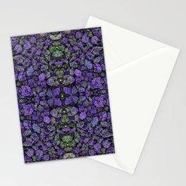 Purple Lava Rocks with Alien Green Orbs Stationery Cards
