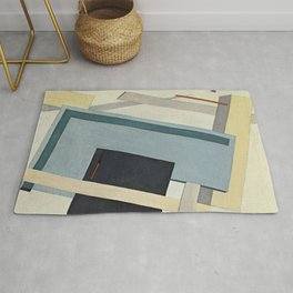 lazar lissitzky proun 4 b Abstract art painting Rug