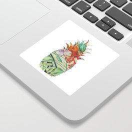 Pineapple fabric Sticker