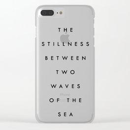 Stillness [Collaboration with Jacqueline Maldonado] Clear iPhone Case