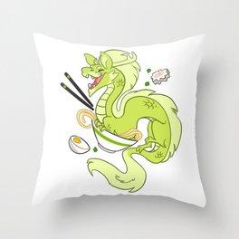 Ramen Noodles Throw Pillow