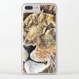 Portrait of a Lion Clear iPhone Case