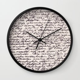 This Letter is for You Wall Clock