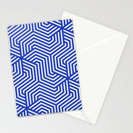 Persian blue - blue - Minimal Vector Seamless Pattern Stationery Cards