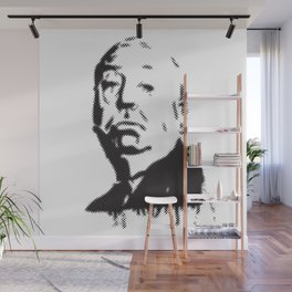 Halftone of Alfred Hitchcock Wall Mural