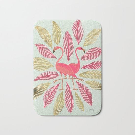 Flamingos – Pink & Gold Bath Mat