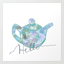 Blue Brew Art Print