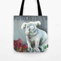 "haunted mansion Tote Bags featuring Disneyland Haunted Mansion inspired ""Rosie""  by ArtisticAtrocities"