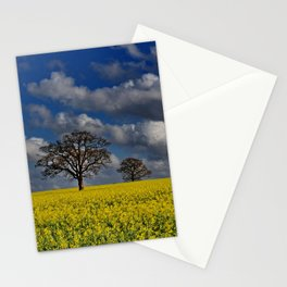Yellow Field Stationery Cards