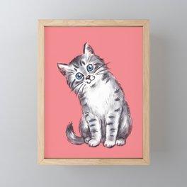 Little Kitten Framed Mini Art Print