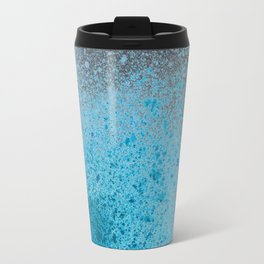 Blue and Black Spray Paint Splatter Travel Mug